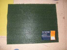 Unused Plastic Grass Front Door Mat