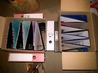 20 folders/ring binders