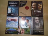 DVD drame/documentaire (Stone, Apocalypse Now, Divided Heaven..)