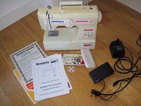 SIMPLICITY FashionPro Sewing Machine - PERFECT Condition