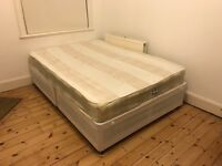 Double bed + mattress for sale - pretty much brand new