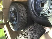 4 studded winter tires with rims from 1998 VW golf