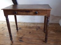 Antique, Vintage Pine Desk (with draw).