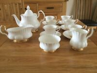 Royal Albert fine bone china tea set.
