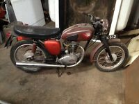 BSA Motorbike project valuable plate included