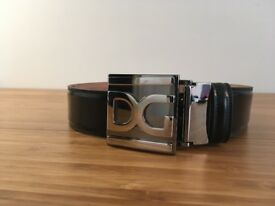 Dolce & Gabbana D&G black leather belt