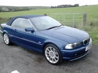 STUNNING BMW 325CI CONVERTIBLE WITH FULL 12 MONTHS MOT, FULL LEATHER, ELECTRIC ROOF, VERY CLEAN