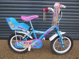 GIRLS APOLLO POM POM BIKE IN IMACULATE ALMOST NEW CONDITION.. (SUIT APPROX. AGE. 4+)..