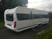 Hobby Caravan 695 Vip Collection (2015) Island Bed. Only One Owner From New. Like Fendt And Tabbert