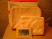 Toilet bag/Cosmetic bag and mirror-----Brand New in Box!