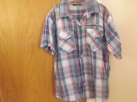 Boys Checked Shirt Age 11-12