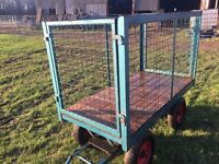 Heavy Duty Platform Truck with Wooden Base and Detachable Sides/Ends