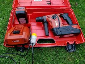 HILTI TE 6-A36-AVR Cordless rotary hammer SET WITH 2X 36V BATT AND 110V CHARGER