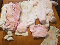 Newborn/first size baby girl bundle