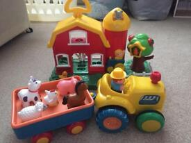 Farm house and tractor set