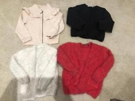 Girls jackets and cardigans river island m&s age 4-6