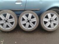 16 inch renault alloys with tyres