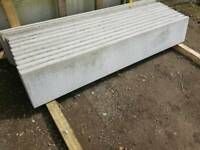 CONCRETE FENCE PANEL GRAVEL BOARDS ROCK FACE OR SMOOTH FACE FROM £9.50 EACH