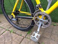 Amazing Retro 1980's professionally hand built carbon frame mountain bike with X-Lite alloy head set