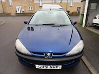 Peugeot 206 1.1 Look 3dr( 2002) Ideal first car with low cc , MOT TO 11/11/2017, TWO KEYS,