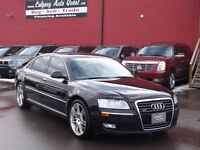 2009 Audi A8 L 4.2/AWD/NAVI/B.CAM/H.REST DVD/LEATHER/ROOF