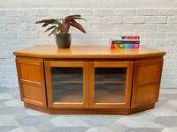 Vintage TV Cabinet Stand Sideboard by Nathan Parker Knoll #D522