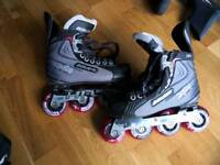 Hockey grade Rollerblades gloves and pads inline skates roller boots