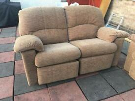 G Plan 3 seater and 2 seater recliner