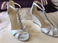 Ivory wedding shoes, size 3