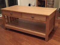 Coffee table with two draws