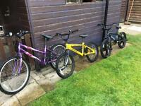 3 x children's bikes for sale