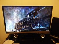 Samsung Widescreen LED Professional/Gaming Slim Bezel Monitor - Black
