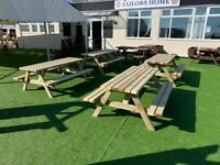 Classic Pub Benches | Lot of 10 Traditional Tables | FREE Delivery Norwich