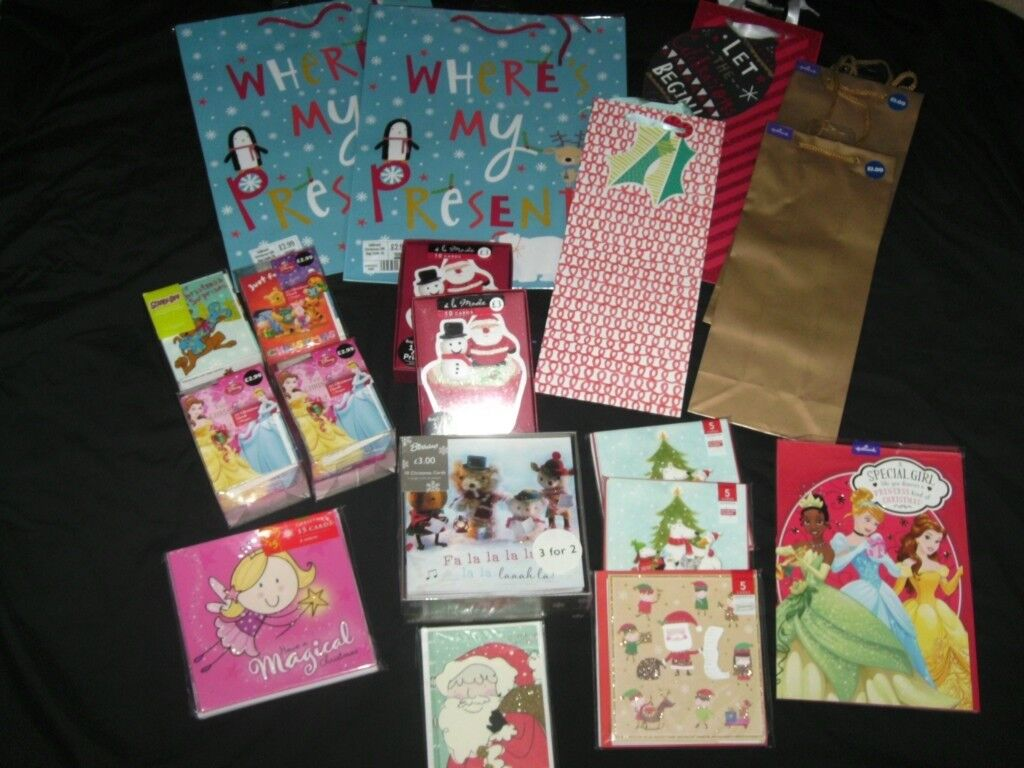 Christmas Bundle Of Christmas Cards Gift Bags Bundle 1 New In