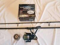 Carp fishing Fox rod and daiwa emcast 5500 reel