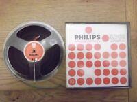 Philips LP18 1800ft reel-to-reel tape on 7 inch plastic spool