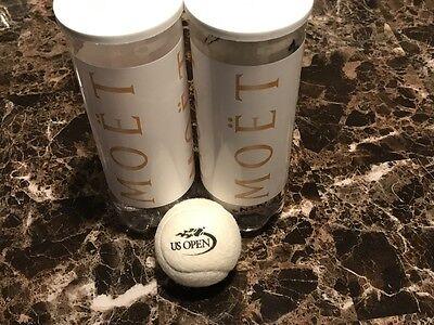 White Wilson US Open Grass Court Tennis Balls Wimbledon Federer MOET RARE