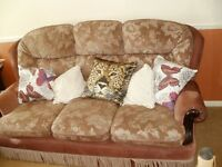 Sofa suite, 3 seater & 2 armchairs