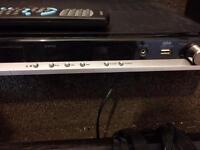 DVD player with sound bar and sub