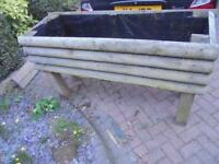 LARGE TIMBER PLANTER FOR GARDEN LANDSCAPING WINDOW WALL DRESSING SOLID TROUGH STYLE 4X4 LEGS