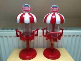 Two dubble bubble empty gum ball machines