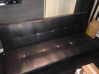 Faux Leather Sofa/Sofa Bed