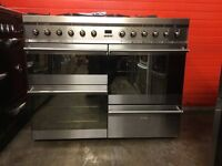Smeg range dual fuel gas cooker SY4110-8 110cm S/S double oven 3 months warranty free local deliver
