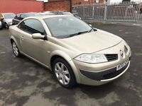 Renault Megane 1.9 dCi Dynamique Convertible - 2007, FSH Cambelt Done, MOT August 2017, 2 Owners