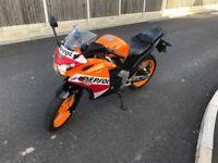 Honda CBR125 2015 Repsol 125cc Fantastic Learner Legal Beginner Bike New Tyres
