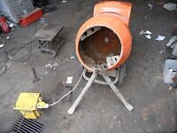 Cement Mixer - 150 Belle, 110 Volt with stand
