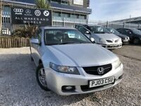 03 HONDA ACCORD 2.0 PETROL VTEC EXECUTIVE IN SILVER *PX WELCOME* MOT TILL AUGUST 2018 £995