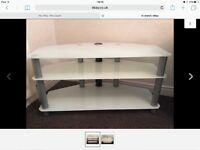 Glass effect tv stand