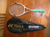 Yonex Ultimum ti tennis raquet hardly used.