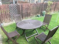 Solid Hardwood Table & 4 Chairs for sale